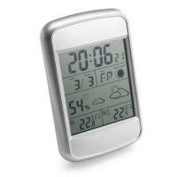 Reloj Y Estacion Meteorologica De Plastico. Gris Ash Claro