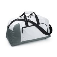 Bolsa De Deporte/viaje De 600d Poliester Con Cremallera Y Compartimento EXterior Con Cremallera. Blanco Neutro