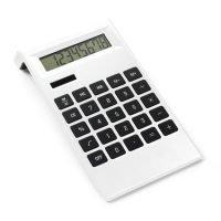Calculadora Dual De Plastico De 8 Digitos, Con Teclas Antideslizantes. Blanco Neutro