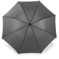 Paraguas Con 8 Segmentos De Poliester 210t, Mango Recto De Goma, CaÑa Y Varillas De Metal. Gris Plomo Oscuro