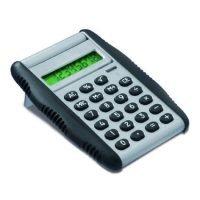 Calculadora De PlÁstico Y Caucho Con Tapa Plegable Y Pantalla De 8 DÍgitos Gris Ash Claro