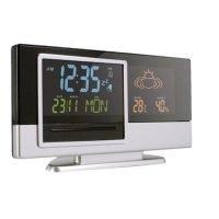 Estacion Meteorologica Retroiluminada Con Reloj, Alarma, Calendario, Higrometro Y Termometro. Negro