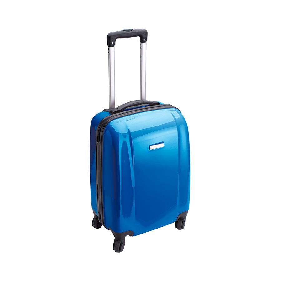 Trolley De Abs 4 Ruedas Giratorias 37x53x23 Cm Azul Royal