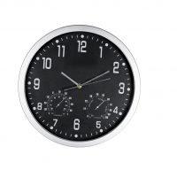 Reloj Redondo De Pared Meteo Negro