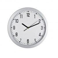 Reloj Redondo De Pared Esfera Blanca Blanco Neutro