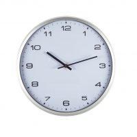 Reloj De Pared Con Marco Blanco Blanco Neutro